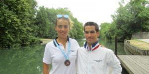 Robin Le Barreau et Aurélie Bouchot, deux fiertés pour le Cognac Yacht Rawing Club.